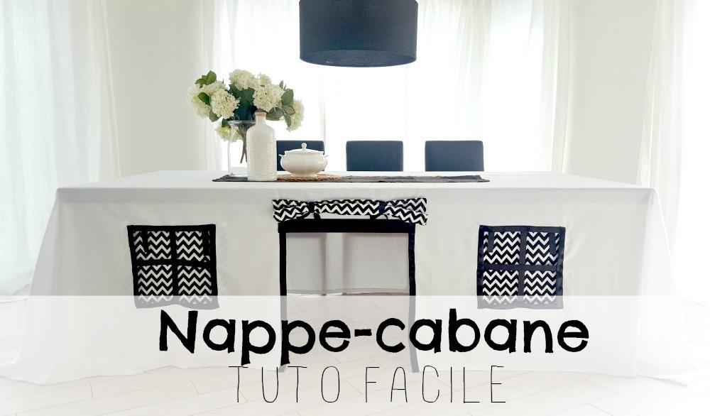 Faire une trop belle et fashion cabane en tissu pour ta salle à diner