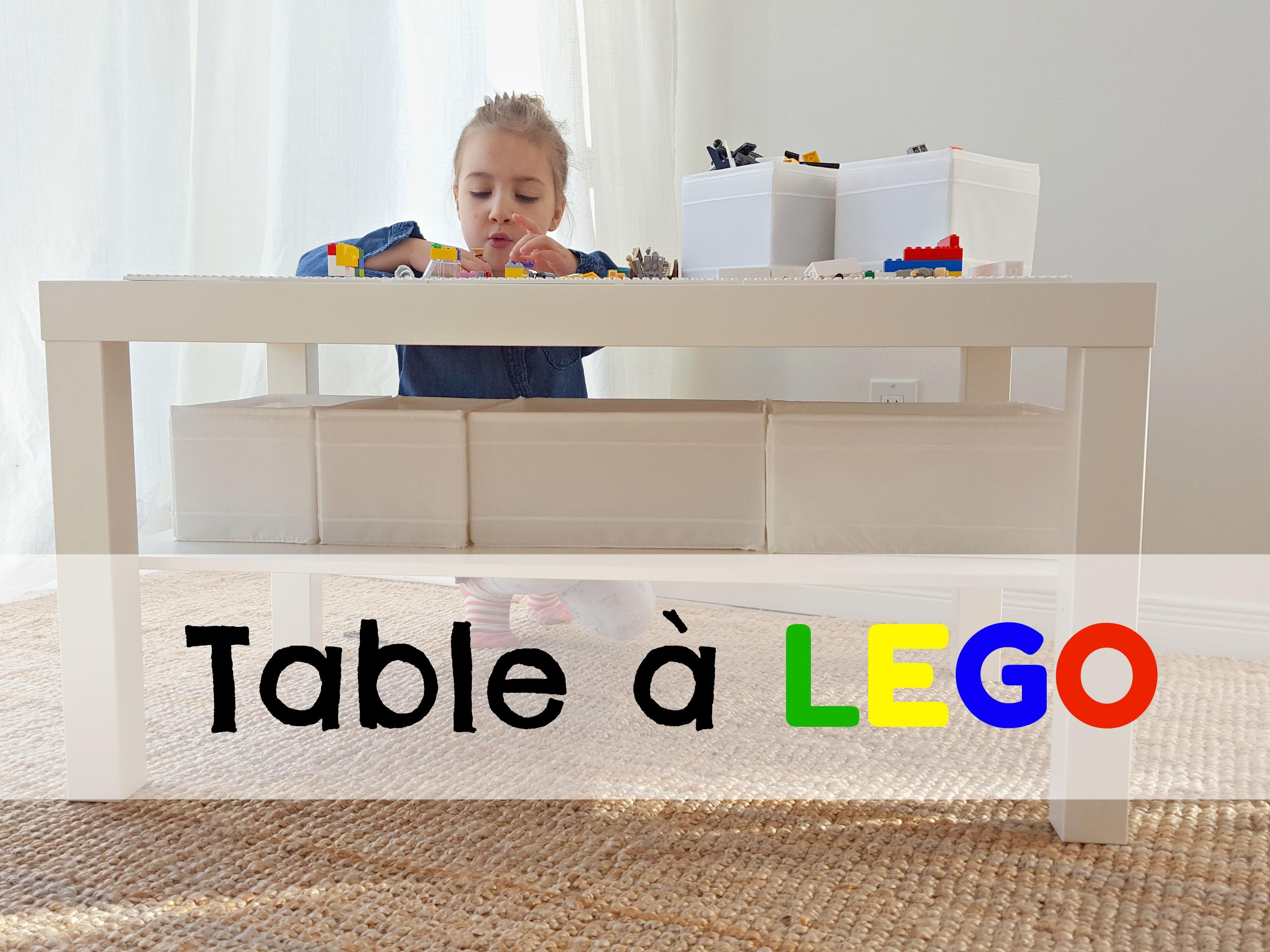 Faire une table à Lego DIY