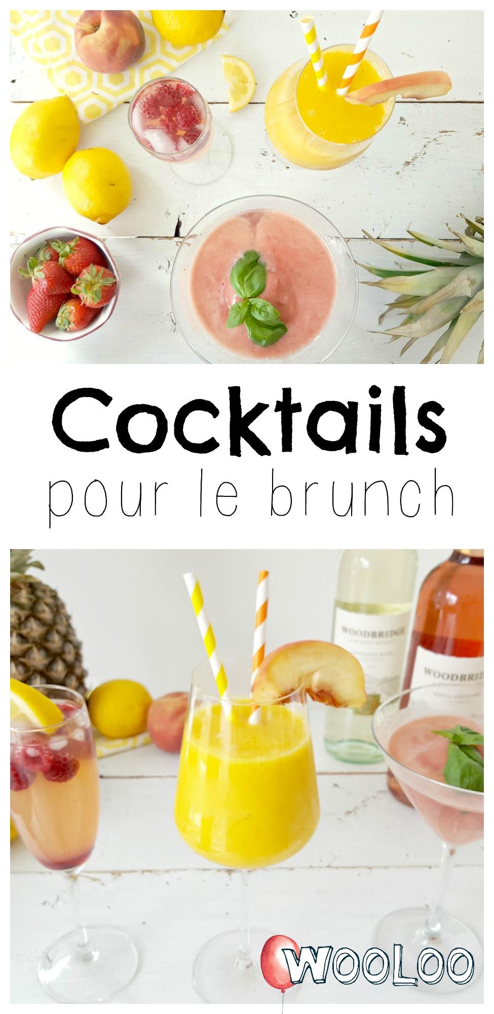 cocktails pour le brunch wooloo