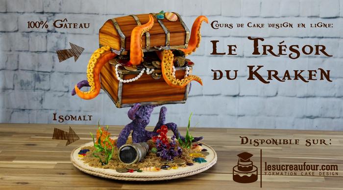 Gâteau pirate coffre aux trésors par Le Sucre Au Four
