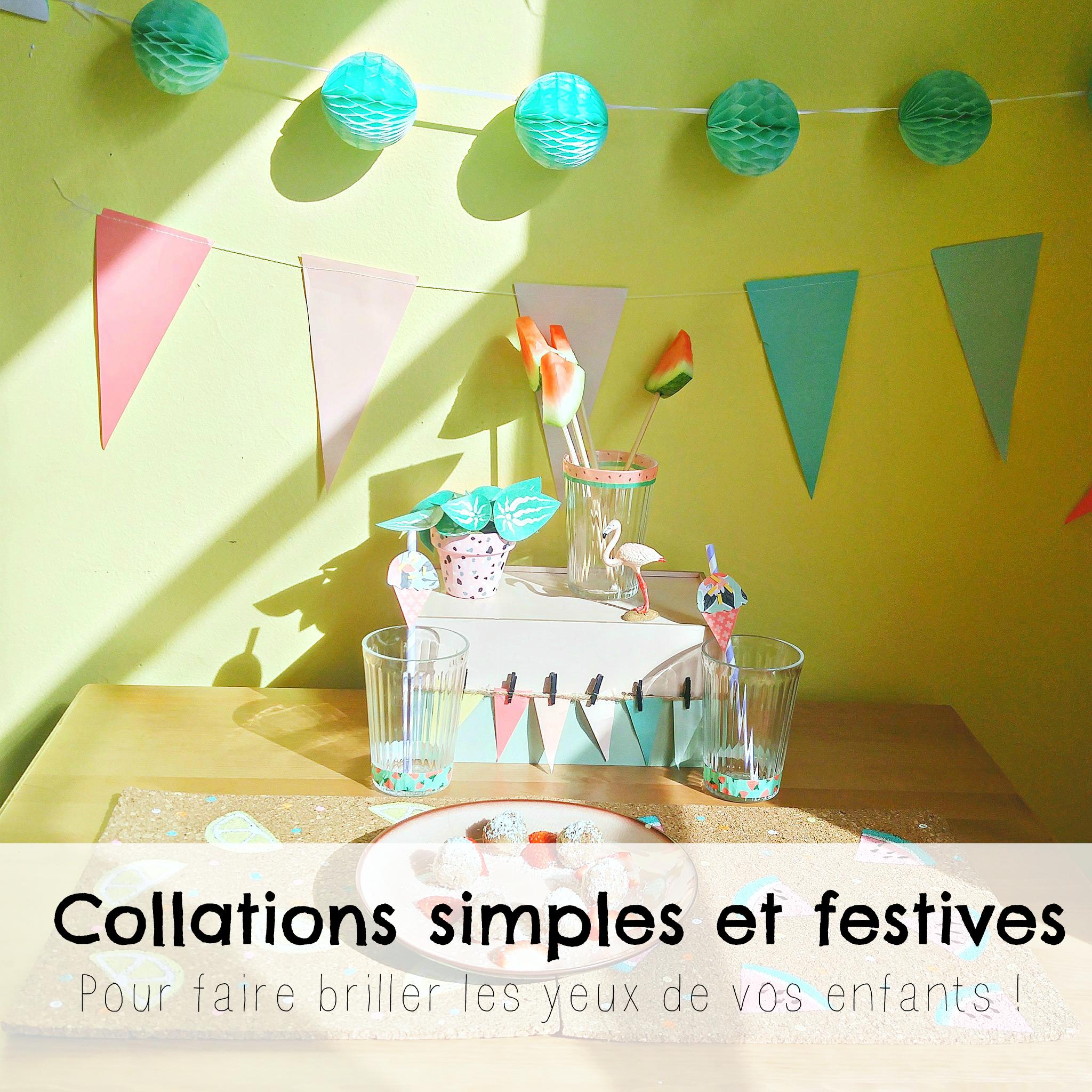 Des collations simples et festives pour épater vos enfants !