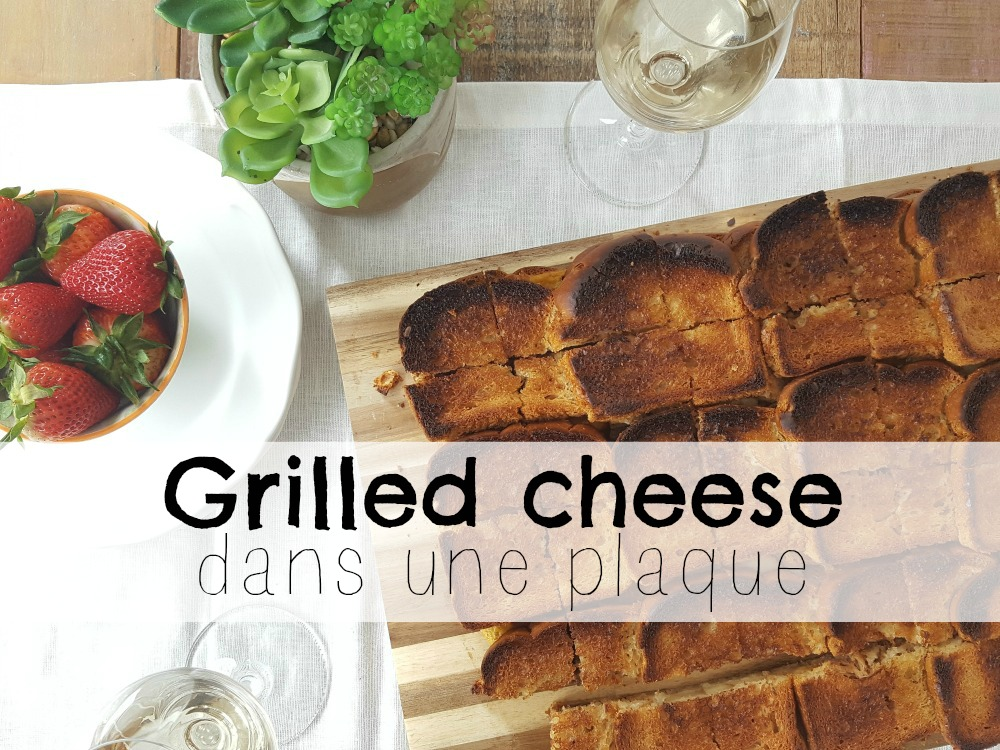 Grilled cheese dans une plaque