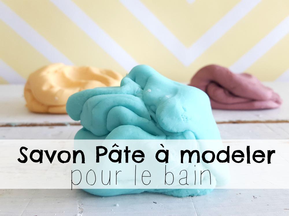 Un savon pâte à modeler pour le bain
