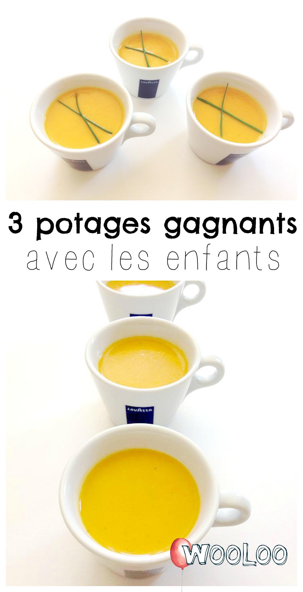 recettes de potages pour enfants Pinterest