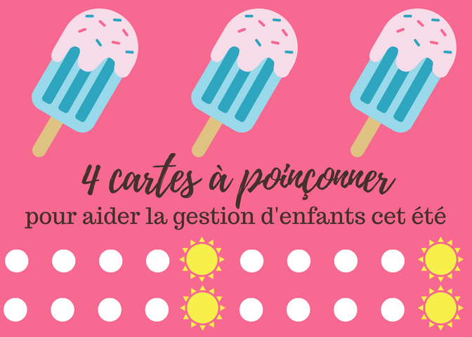 MOTIVATION D'ENFANTS : Cartes à poinçonner + version imprimable