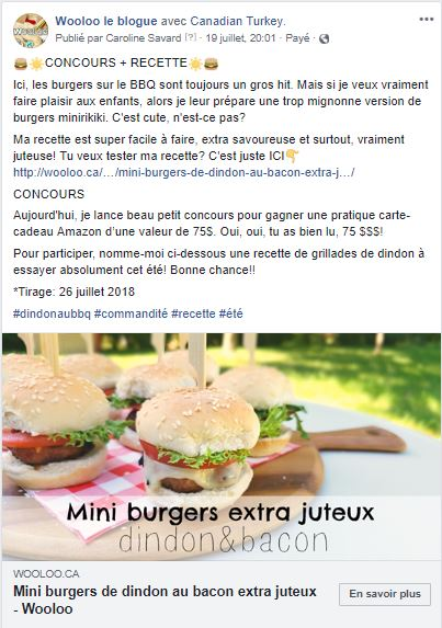 burger dindon concours wooloo