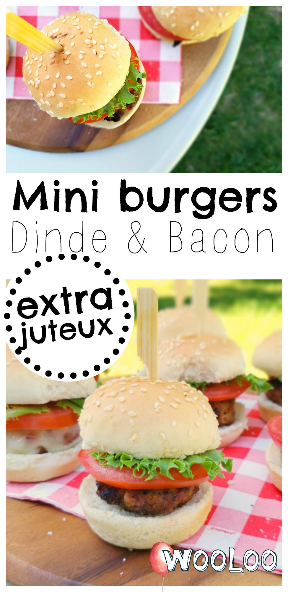 Mini burgers de dindon au bacon extra juteux wooloo