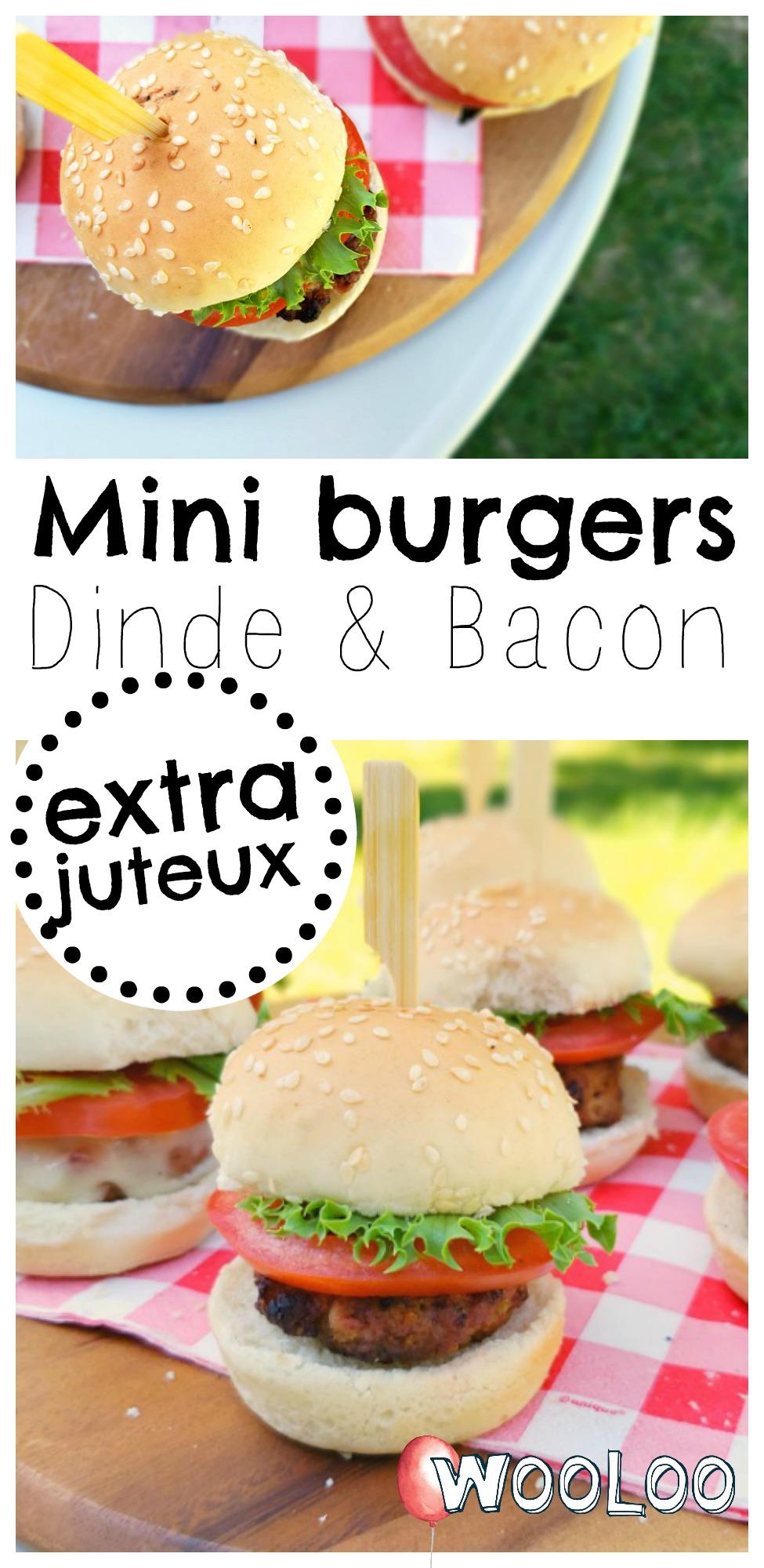 Mini burgers de dindon au bacon extra juteux wooloo
