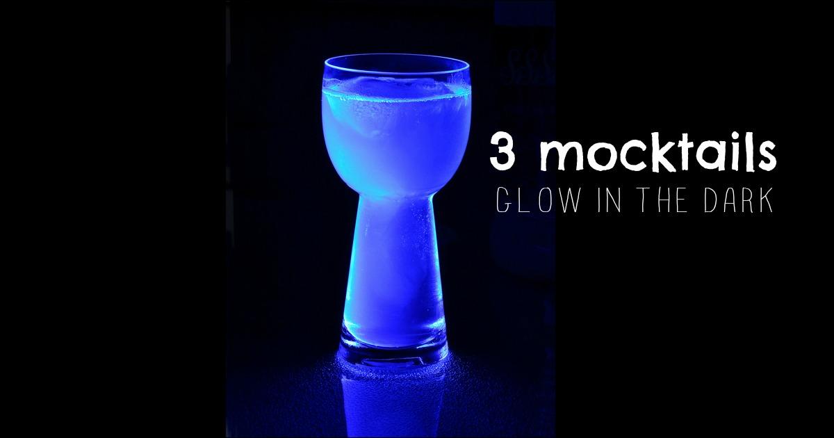 Trois recettes de Mocktail pour vos partys Glow in the dark!