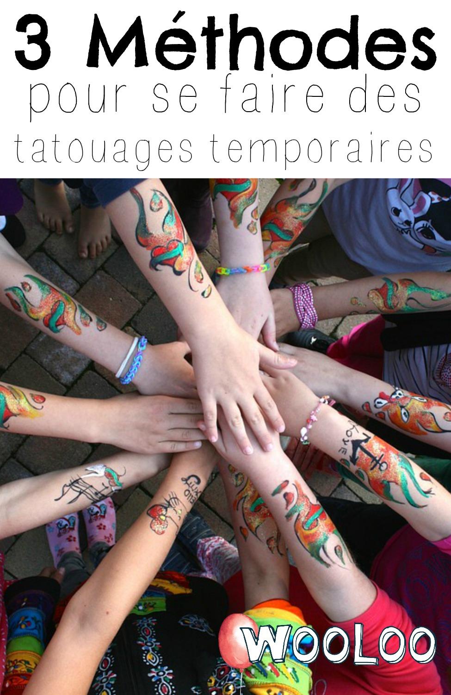 Voici 3 méthodes pour faire des tatouages temporaires DIY wooloo