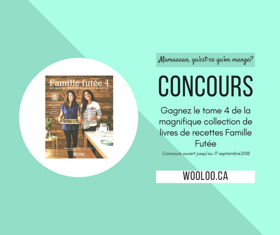 CONCOURS: Gagnez le livre de recettes Famille Futée Tome 4