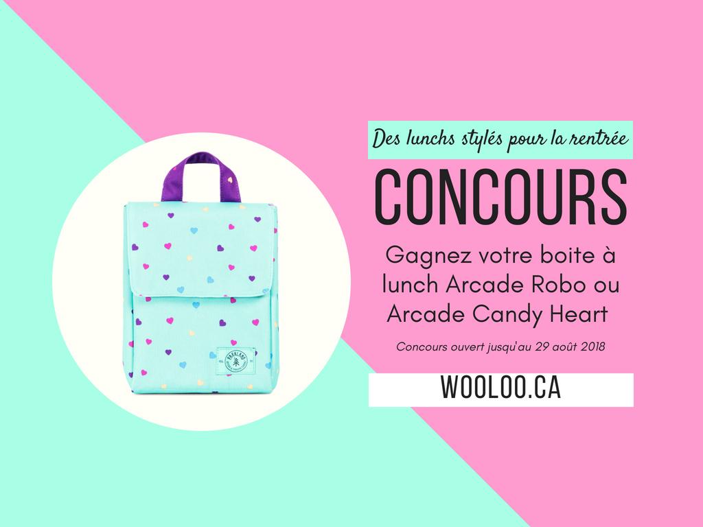 CONCOURS: Gagnez votre boite à lunch Arcade Robo ou Arcade Candy Heart