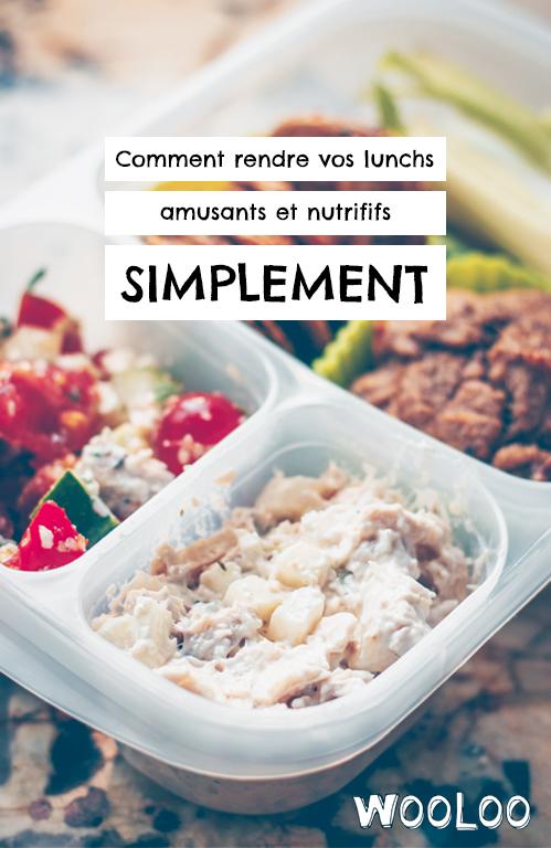 Trucs et astuces pour des idées de lunchs amusants et nutritifs tout en restant simple à préparer.
