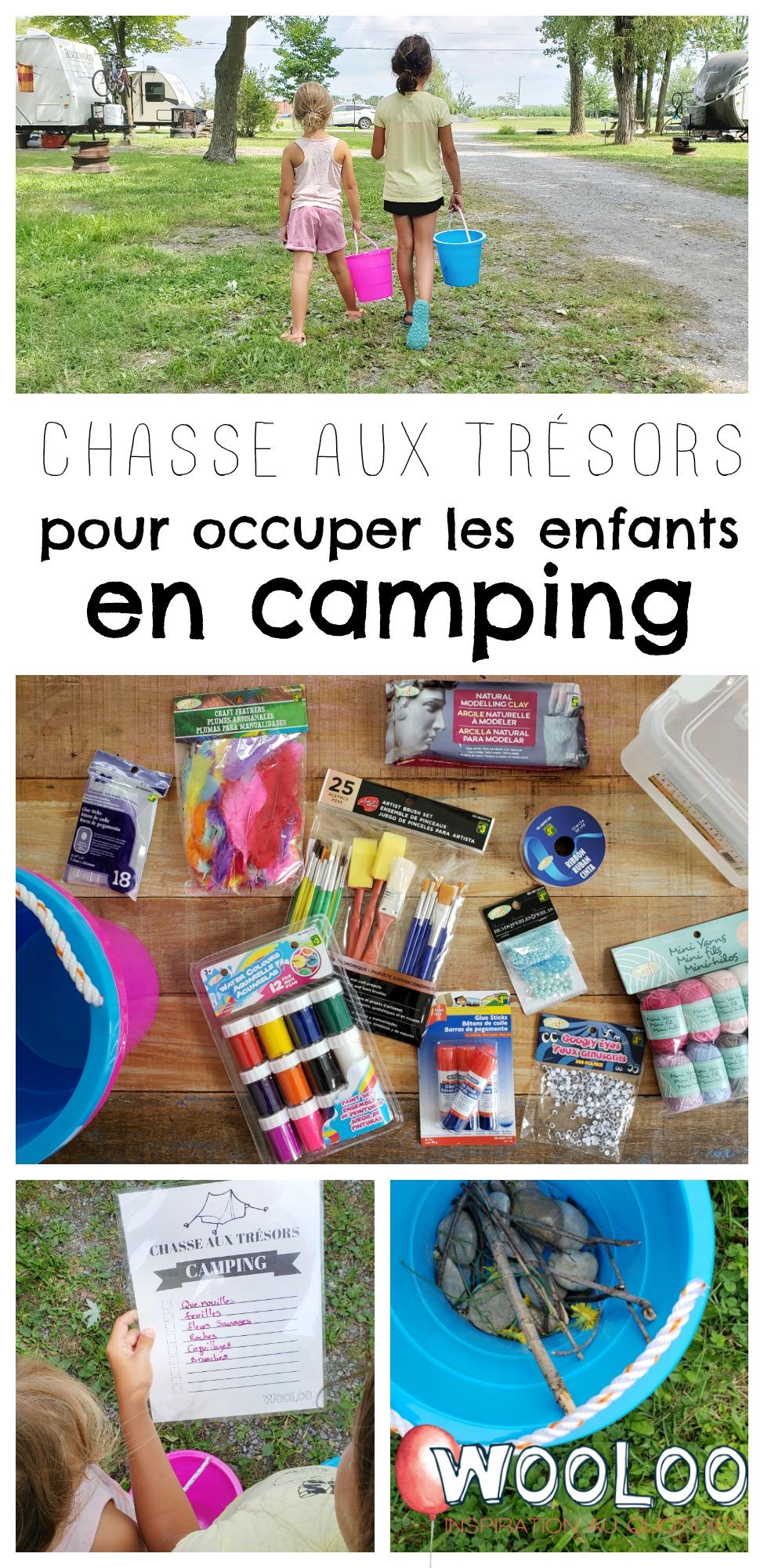 chasse aux trésors en camping wooloo