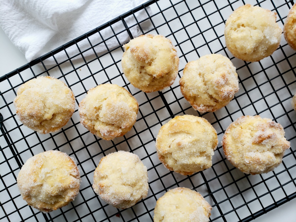Muffins de style beigne au sucre