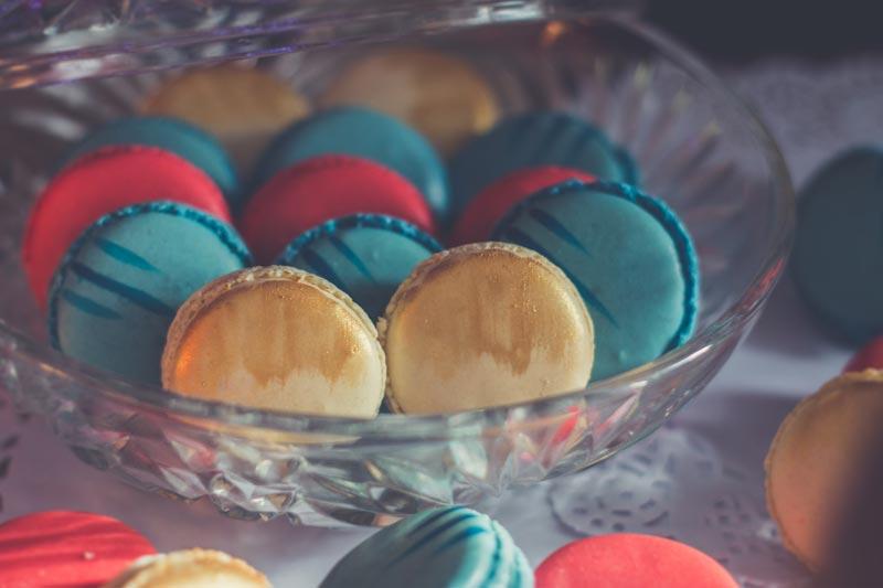 Macarons par La Dent Sucrée pour une fête d'enfants sur la thématique cirque, Dumbo.