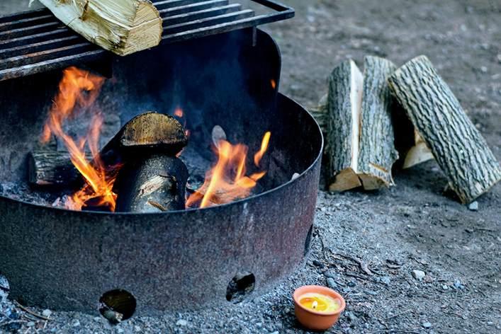 regle de vie camping bruler dechet