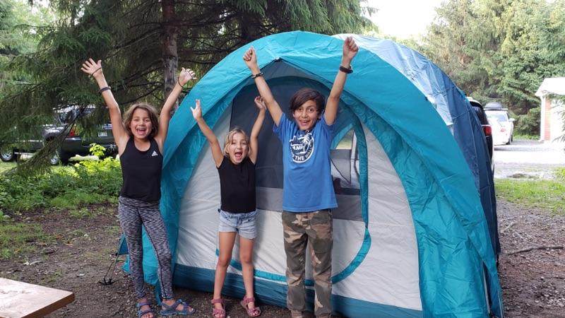 Hébergement au camping du Parc de la Gorge de Coaticook