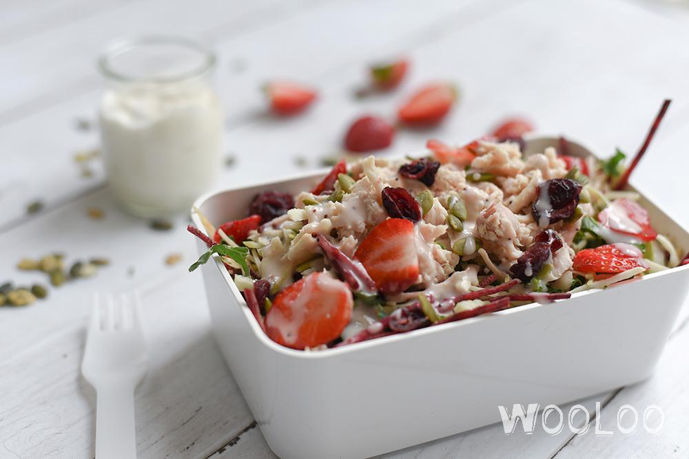 LUNCH FACILE : Salade repas prête en 3 minutes !