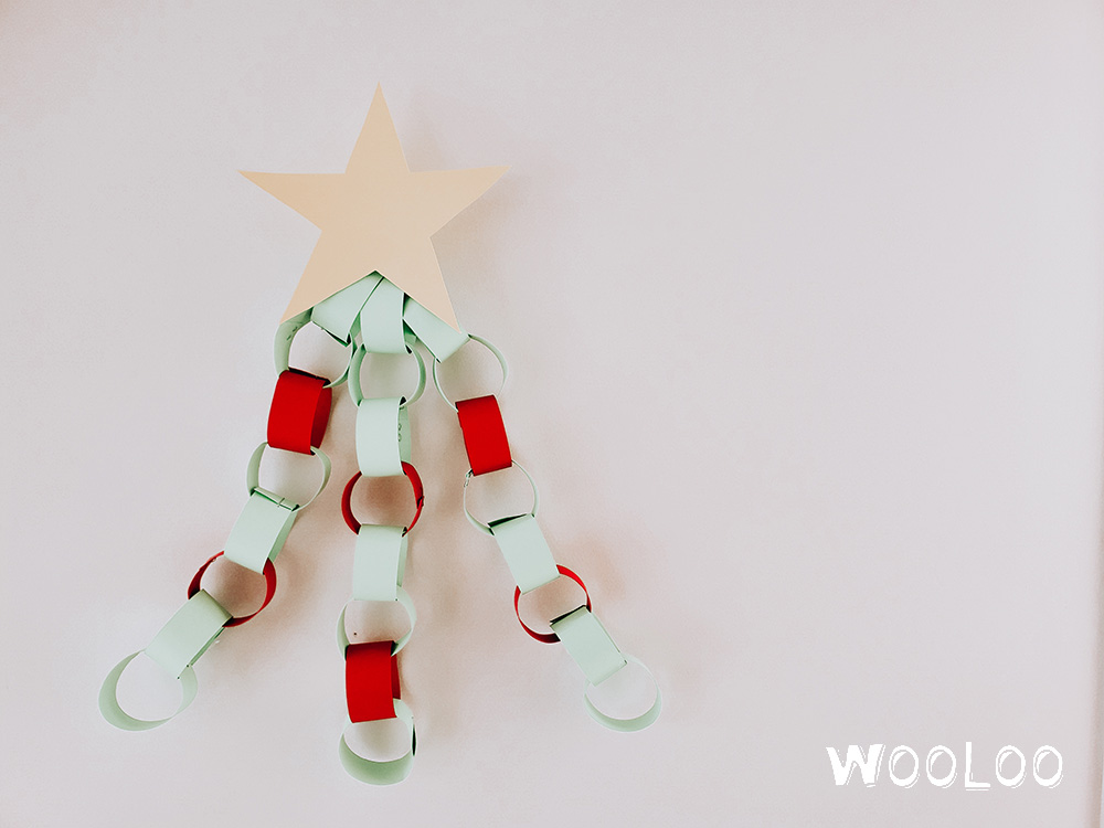 Fabriquer un décompte de Noël ludique avec une chaine de papier