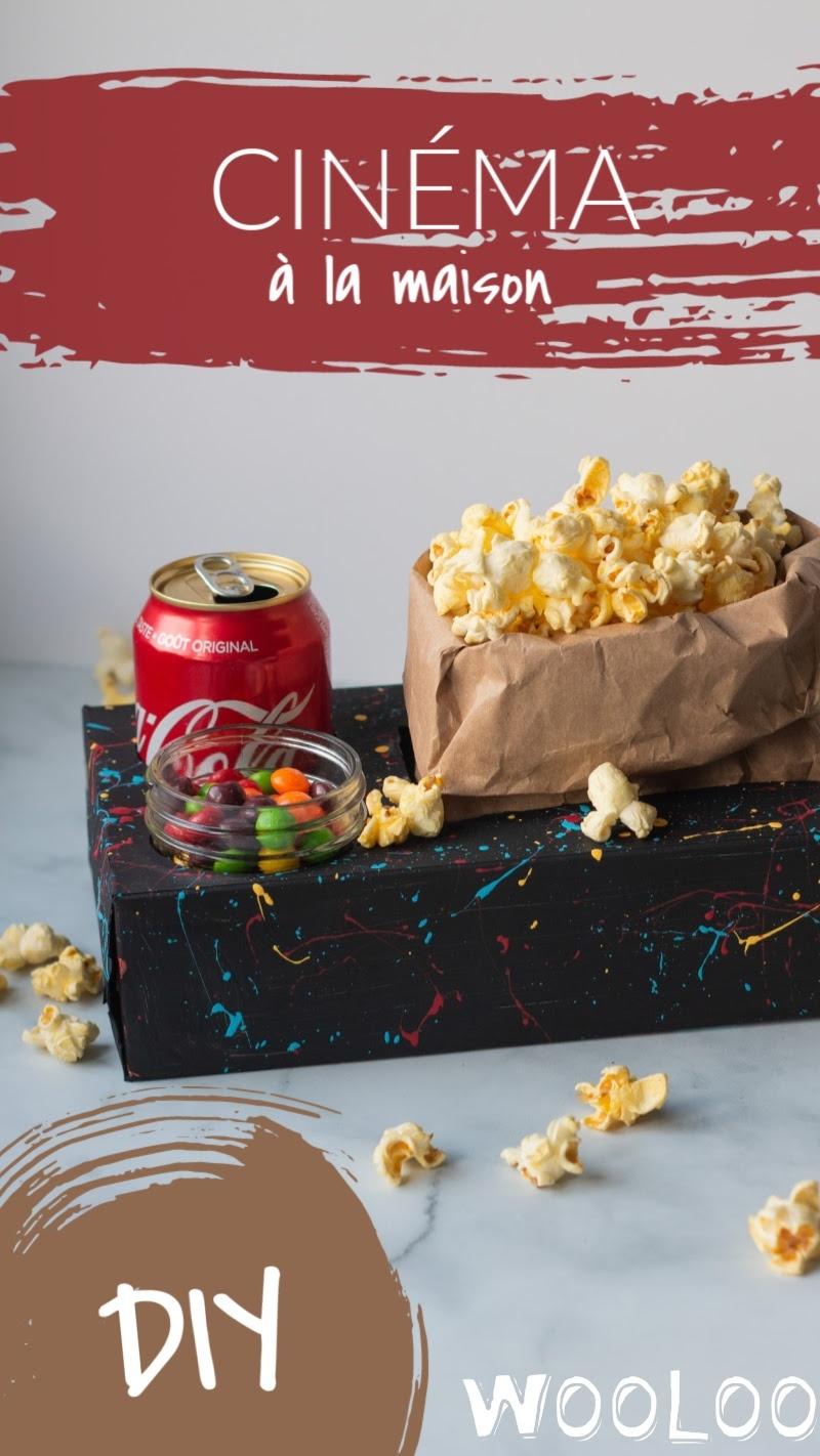 Soirée cinéma maison - Boite collation DIY